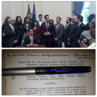 Sen. Ruben Kihuen posted this photo to his Twitter, saying that he was grateful to Gov. Sandoval for his support.