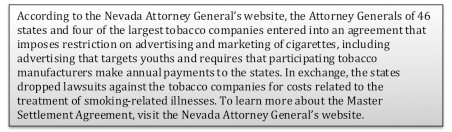 What is the Tobacco Master Settlement Agreement?