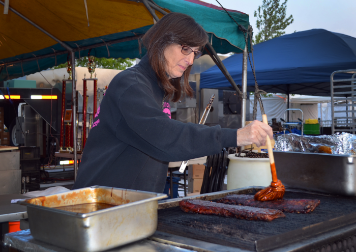 Lynne Lupinetti from Butch's Smack Your Lips BBQ has been at the Nugget Rib Cook-Off for ten years, and has been there to witness many changes in the event. Photo by Erin Meyering