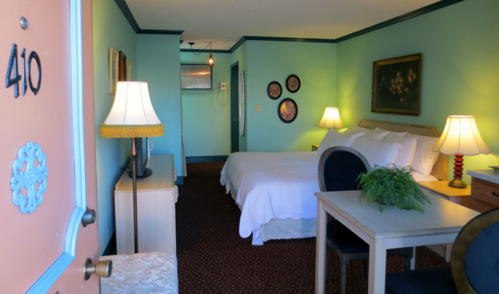 Room 410 serves as at the Victorian Inn / Photo by Molly J. Moser