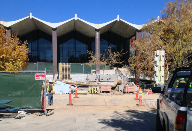 Two Reno contruction companies sought  a preliminary injunction in April to halt the demolition of the University of Nevada, Reno's Getchell Library because the contract was given to an out-of-state company. / Photo by Nicholas Stack