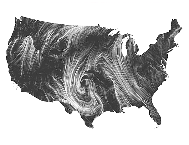 A still shot of a wind map courtesy of http://hint.fm/wind/.