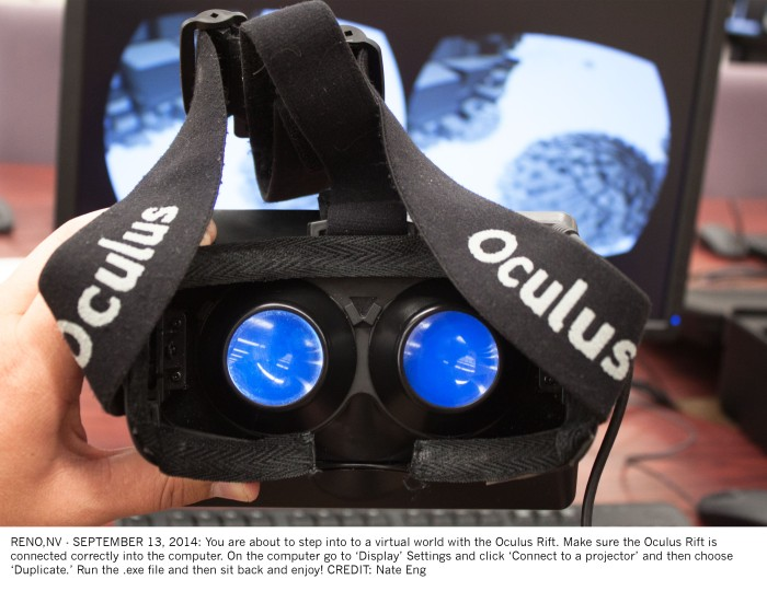 Oculus Rift virtual world