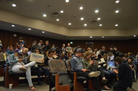 Caucusing at the University of Nevada, Reno, on Feb. 20, 2016.